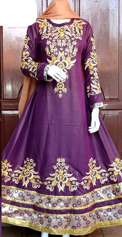 gamis india ungu
