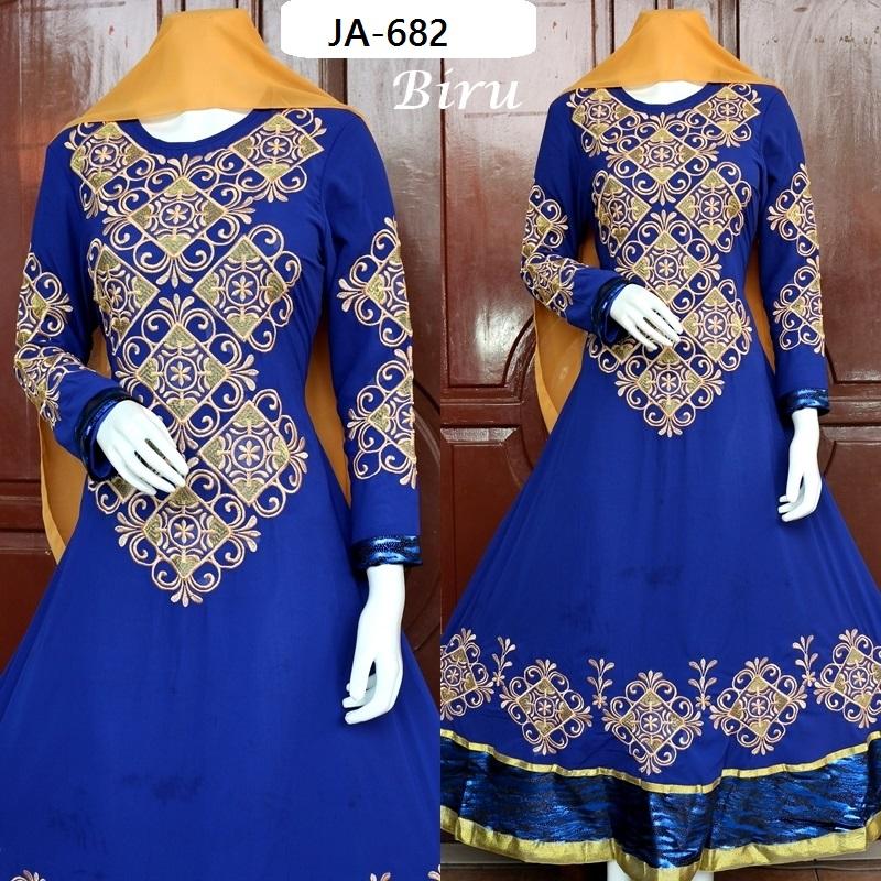 Gamis India Jodha Akbar Ja 682 Baju Pesta Busana Muslim Modern