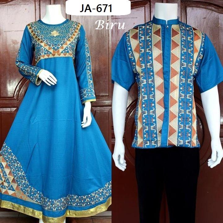 Busana Muslim Couple Edisi 3 Dengan 6 Warna Baju Pesta Busana