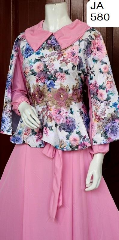 Baju Pesta Muslim Brokat Diansastro Pink Ja 480 Baju Pesta Busana