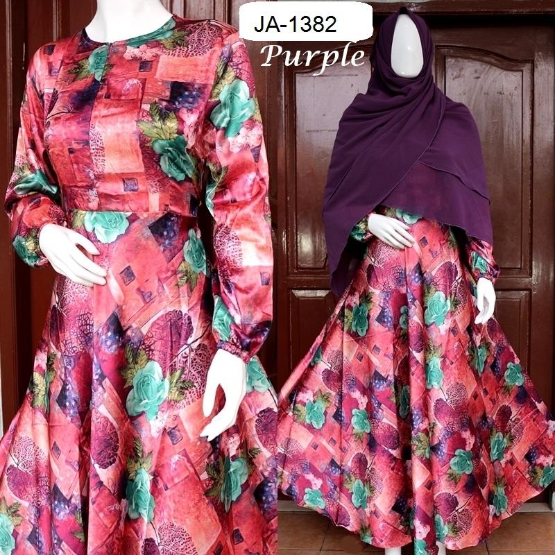 Baju Pesta Syari Bunga