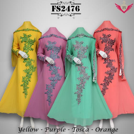 Baju Pesta Ceruty Latifah FS2476 + Pashmina