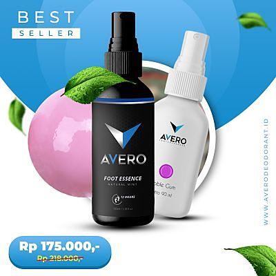 Paket Deodorant dan Parfum AVERO Aroma Bubble Gum